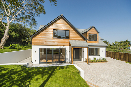 Modern property in Cornwall sold by Shore Partnership.